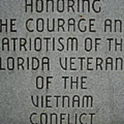 Florida Vietnam War Memorial Art Print