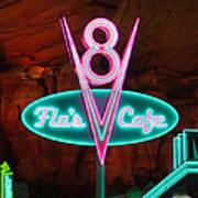 Flo's V8 Cafe - Cars Land - Disneyland Art Print by Heidi Smith