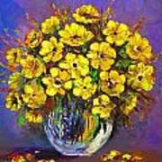 Flower Are Yellow Art Print