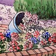 Flower Bed Sketchbook Project Down My Street Art Print