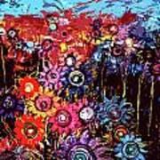 Flower Garden Art Print by Karen Elzinga