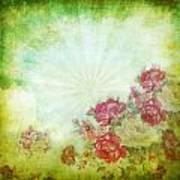 Flower Pattern On Paper Art Print by Setsiri Silapasuwanchai