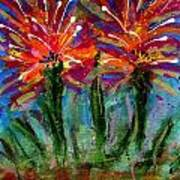 Flower Towers Art Print