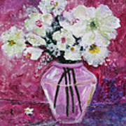 Flowers In A Magenta Room Art Print