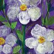 Flowers In Moonlight Art Print