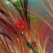 Flowers In The Grass Art Print