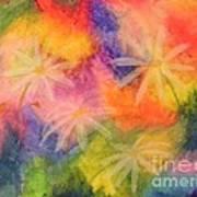 Flowers On Color Art Print