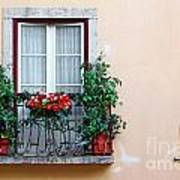 Flowery Balcony Art Print by Carlos Caetano