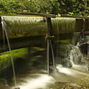 Flowing Water From Mill Art Print by Andrew Soundarajan