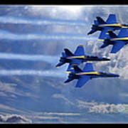 Fly The Skys Blue Angels Art Print