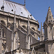 Flying Buttress At Nortre Dame Cathedral Art Print