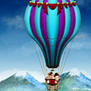 Flying Pig - Balloon - Up Up And Away Art Print