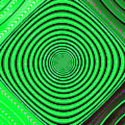 Focus On Green Art Print