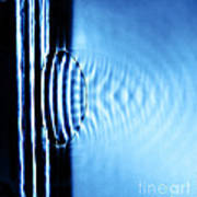Focusing Water Waves Art Print