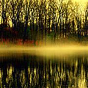 Fog At  Farrington Lake Art Print