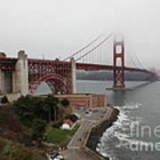 Fog At The San Francisco Golden Gate Bridge - 5d18868 Print by Wingsdomain Art and Photography