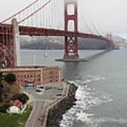 Fog At The San Francisco Golden Gate Bridge - 5d18872 Art Print by Wingsdomain Art and Photography