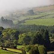 Fog Rolling Into Nire Valley Clonmel Art Print