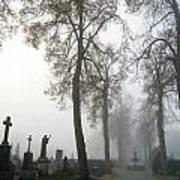 Foggy Cemetery Art Print