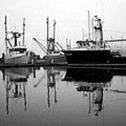 Foggy Reflections Bw Art Print by Kami McKeon