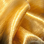 Folding Gold Art Print by Artist and Photographer Laura Wrede