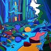 Follow The River Jackson Nh Art Print
