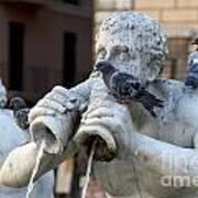 Fontana Del Moro In Piazza Navona. Rome Print by Bernard Jaubert