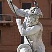 Fontana Del Nettuno. Neptune Fountain. Piazza Navona. Rome Art Print