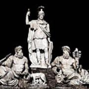 Fontana Della Dea Roma Tra Il Tevere E L'aniene Art Print by Fabrizio Troiani