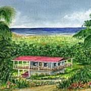 Foothills Of El Yunque Puerto Rico Art Print