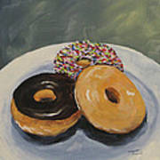 For The Love Of Krispy Kreme Art Print