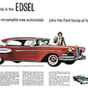 Ford Cars: Edsel, 1957 Art Print