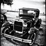 Ford Model T Film Noir Art Print