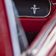 Ford Mustang Dash Emblem Art Print