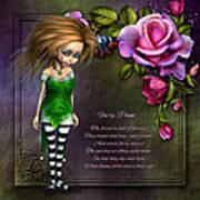 Forest Fairy Jn The Rose Garden Art Print