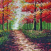 Forest Path Art Print by Kostas Dendrinos