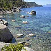 Forested Shores Of Lake Tahoe Art Print