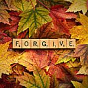 Forgive-autumn Art Print