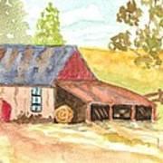 Forgotten Barn Postcard Art Print