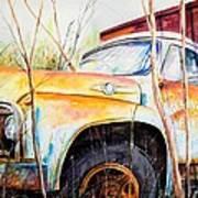 Forgotten Truck Art Print by Scott Nelson
