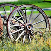 Forgotten Wagon Wheel Art Print by Sarai Rachel