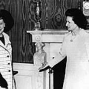 Former First Lady Mamie Eisenhower Print by Everett