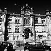 Former Kilmarnock Technical School And Academy Building Now Academy Apartments Scotland Uk Art Print by Joe Fox