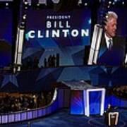 Former President Bill Clinton Addresses Art Print