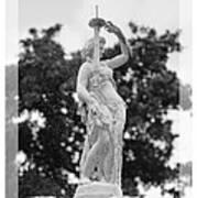 Forsyth Fountain - Black And White 2 Art Print