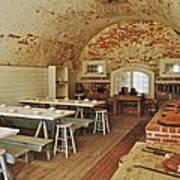 Fort Macon Mess Hall_9078_3765 Art Print