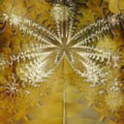 Fossil Gold Art Print