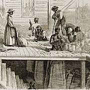 Four 1869 Illustrations Show Processing Art Print