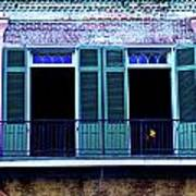 Four Balcony Windows Art Print