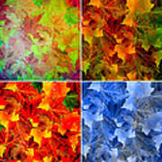 Four Seasons In Abstract Art Print